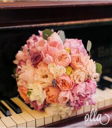 Balada Pretioasa, buchet de mireasa din trandafiri1