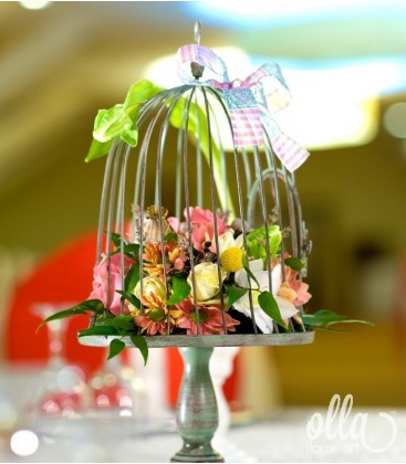 Cantec de Crizanteme, aranjament masa botez1