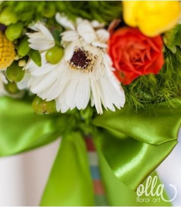 Cavalerul Iubirii, lumanari de nunta verde cu galben2