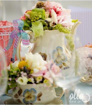 Ceremonie Parfumata, aranjament de masa pentru nunta1