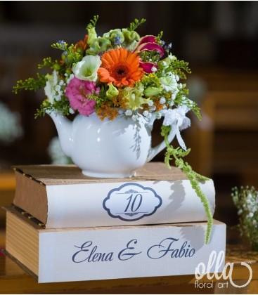Cescuta Captivanta, aranjament de masa pentru nunta0