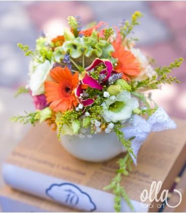 Cescuta Captivanta, aranjament de masa pentru nunta2
