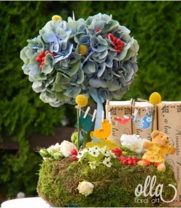 Copacelul Bucuriei, aranjament masa botez0