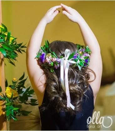 Craiasa Noptii, coronita de flori0