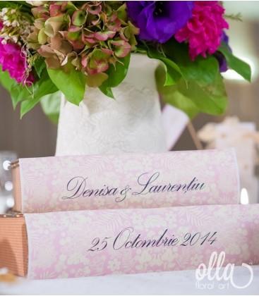 Curcubeul Indraznet, aranjament de masa pentru nunta1