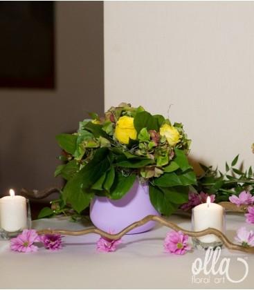 Dansul Culorilor, aranjament masa botez prezidiu1