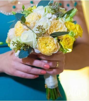 Detaliu Sclipitor, buchet de mireasa din trandafiri0