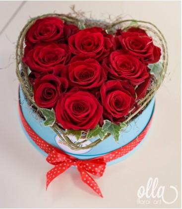 Dragoste Pura, aranjament floral trandafiri Ecuador0