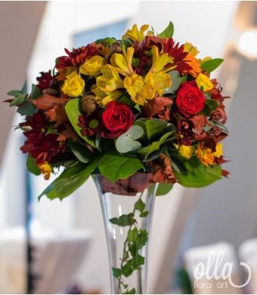 Emotii de Toamna, aranjament de masa pentru nunta2