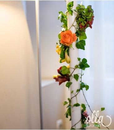 Emotii de toamna, lumanari de nunta spirala de flori1