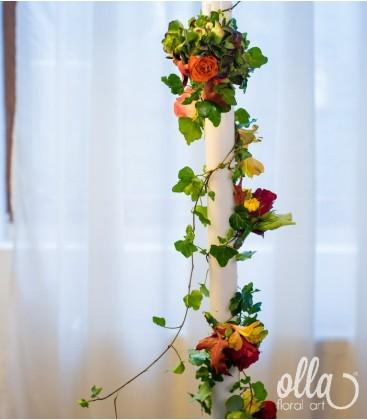 Emotii de toamna, lumanari de nunta spirala de flori0