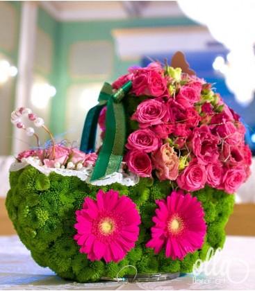 Floare la Plimbare, aranjament masa botez2