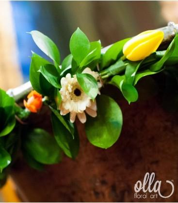Hora Veseliei, decor floral pentru cristelnita1