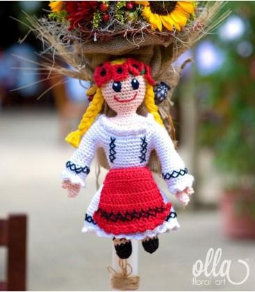 Ileana Cosanzeana, lumanari de nunta cu floarea soarelui si dalii1