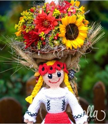 Ileana Cosanzeana, lumanari de nunta cu floarea soarelui si dalii0