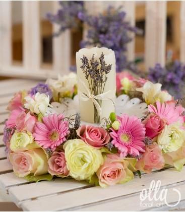 Incoronarea Iubirii, aranjament de masa pentru nunta2