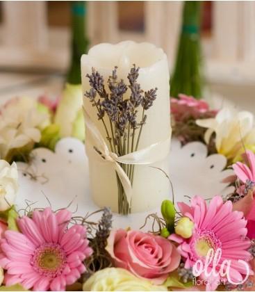 Incoronarea Iubirii, aranjament de masa pentru nunta1