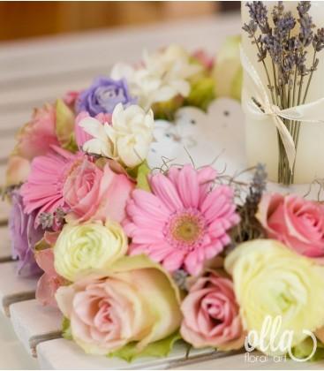 Incoronarea Iubirii, aranjament de masa pentru nunta0