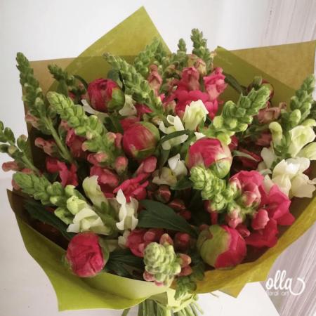 Parfum de Primavara, buchet de flori Olla, din Bujori Corai si Gura Leului [1]