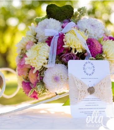 Poteca Fericirii, aranjament de masa pentru nunta1