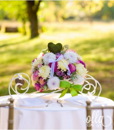 Poteca Fericirii, aranjament de masa pentru nunta0