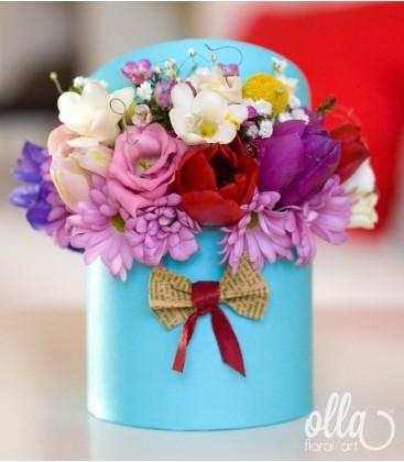 PR 67 Propunere Parfumata, cutie cu flori decorata manual0