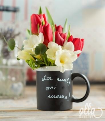 PR22 Ganduri Parfumate, aranjament floral pe suport de cana personalizabila0