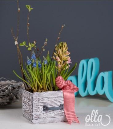 Sertar infloritor aranjament floral de primavara0