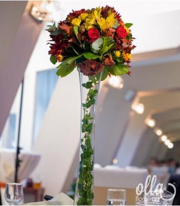 Scara Succesului, aranjament floral corporate1