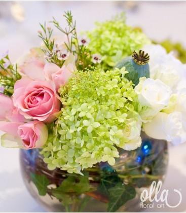 Suflet Multicolor, aranjament de masa pentru nunta1