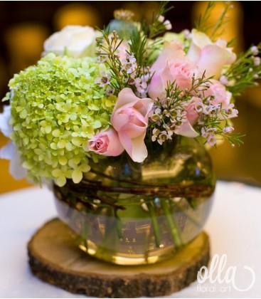 Suflet Multicolor, aranjament de masa pentru nunta3