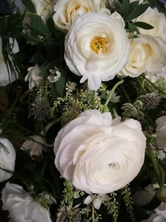 Rau de Flori, buchet de mireasa curgator alb [2]
