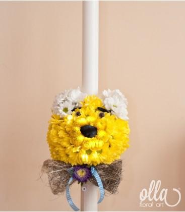 Winnie the Pooh, lumanare pentru botez unicat0
