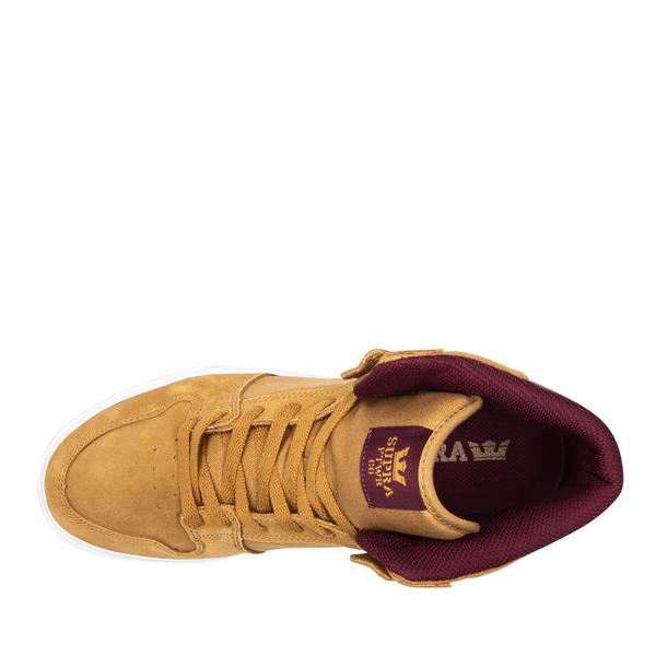 SUPRA VAIDER TAN/WINE-WHITE 2