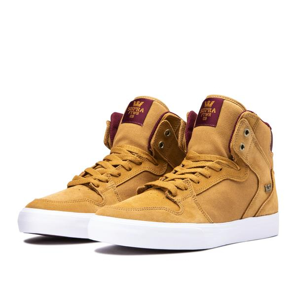 SUPRA VAIDER TAN/WINE-WHITE 1