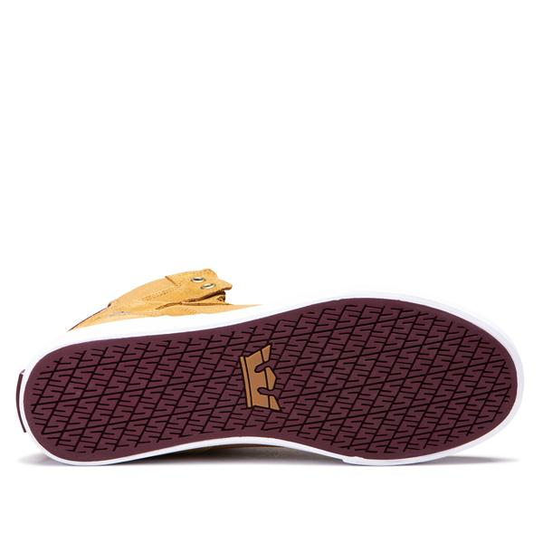 SUPRA VAIDER TAN/WINE-WHITE 4