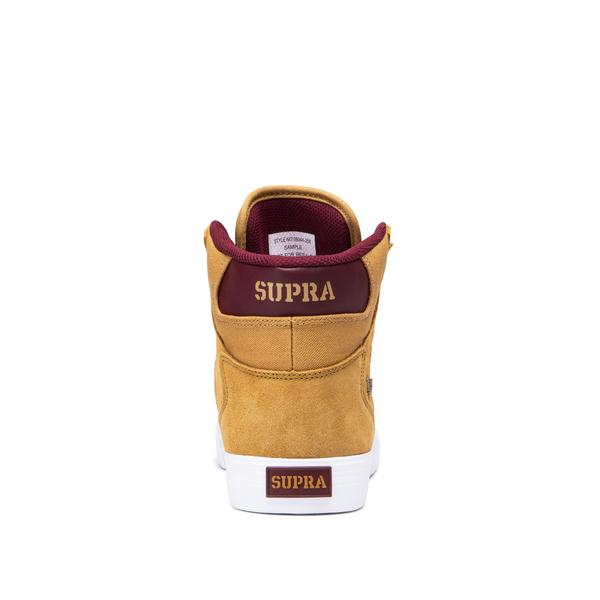 SUPRA VAIDER TAN/WINE-WHITE 3