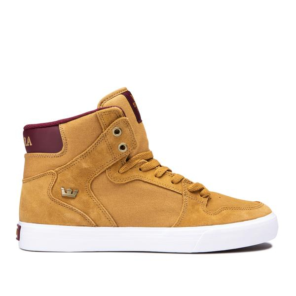 SUPRA VAIDER TAN/WINE-WHITE 0