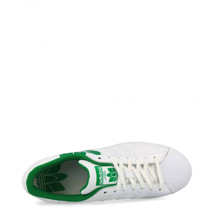 ADIDAS Superstar Ftwwht / Ftwwht / Green 2