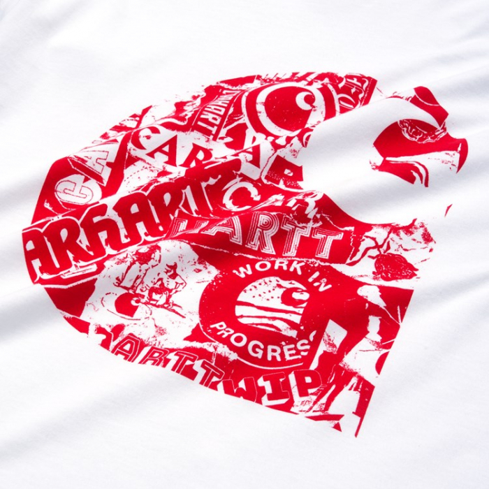 CARHARTT S/S Collage C T-Shirt White / Etna Red 1