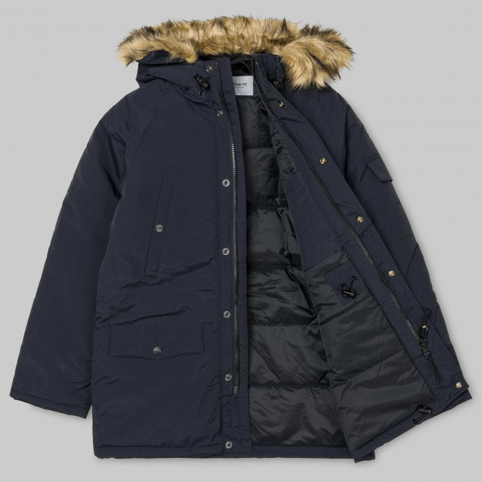 CARHARTT Anchorage Parka Dark Navy / Black 7