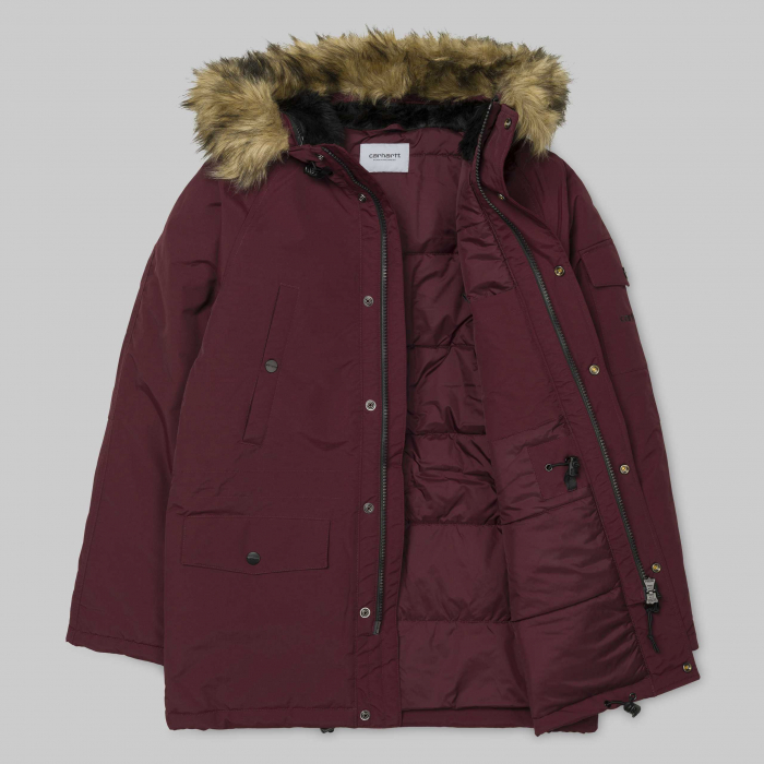 CARHARTT ANCHORAGE PARKA MULBERRY / BLACK 8
