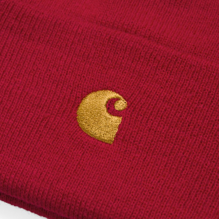 CARHARTT Chase Beanie Etna Red / Gold 1