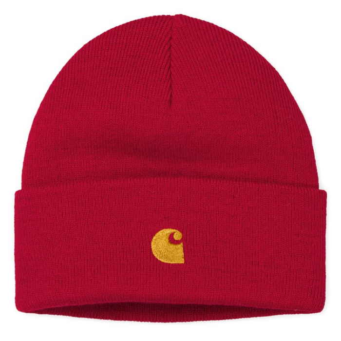 CARHARTT Chase Beanie Etna Red / Gold 0
