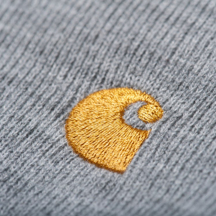 CARHARTT Chase Beanie Grey Heather / Gold 1