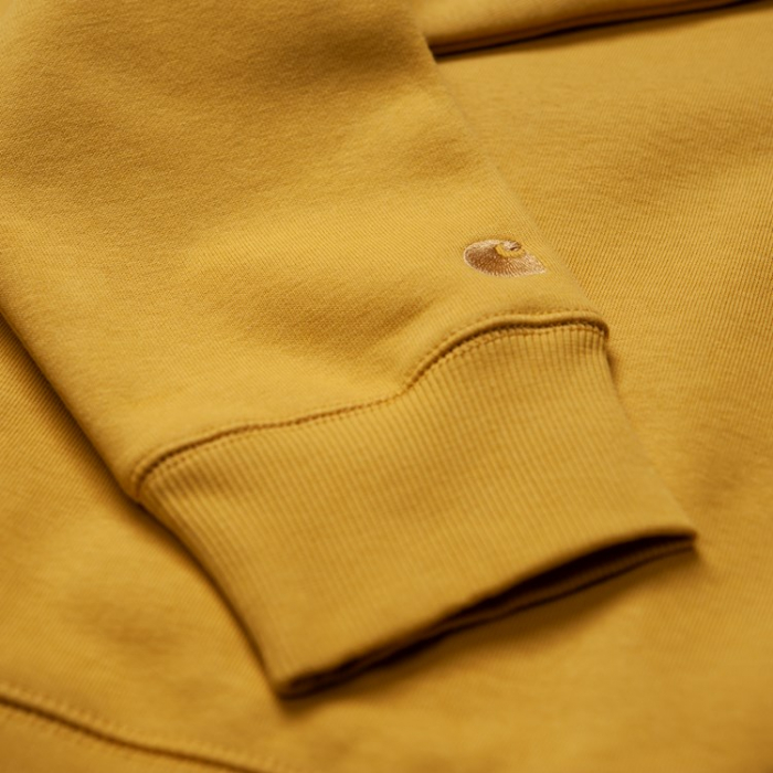 CARHARTT CHASE SWEAT COLZA / GOLD 2