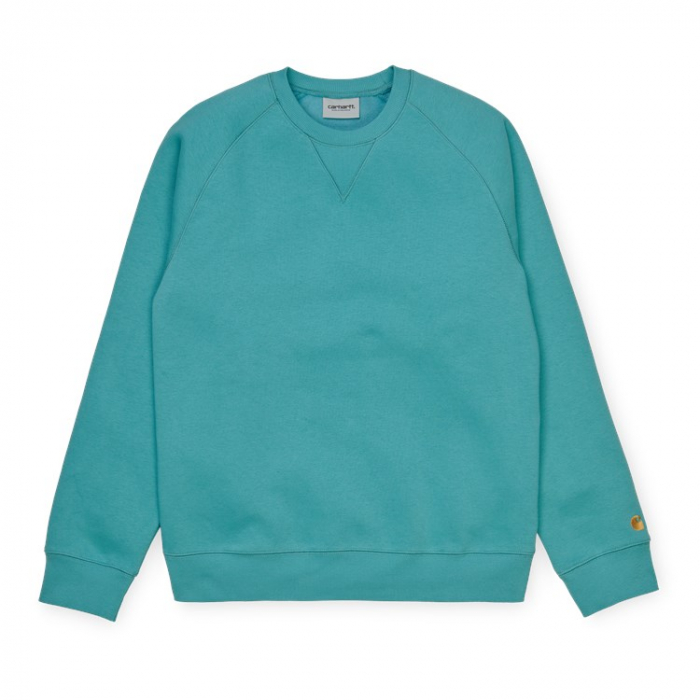 CARHARTT Chase Sweat Frosted Turquoise / Gold 0