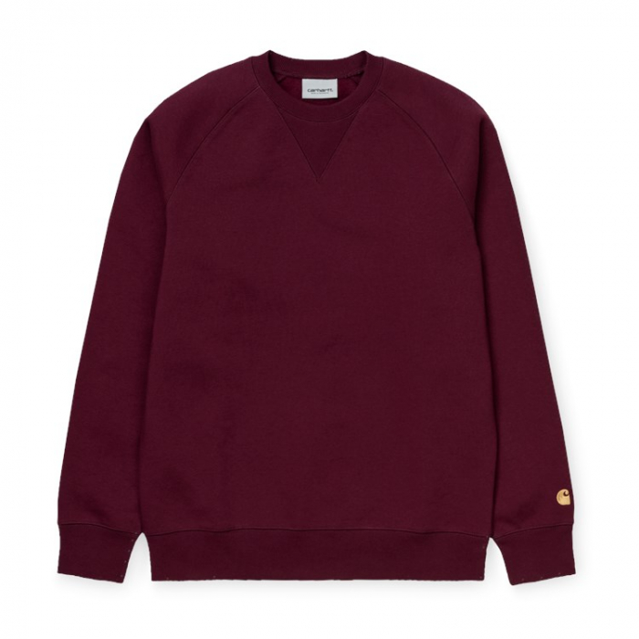 CARHARTT CHASE SWEAT MERLOT / GOLD 0
