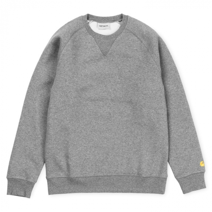 CARHARTT CHASE SWEAT DARK GREY HEATHER / GOLD 0