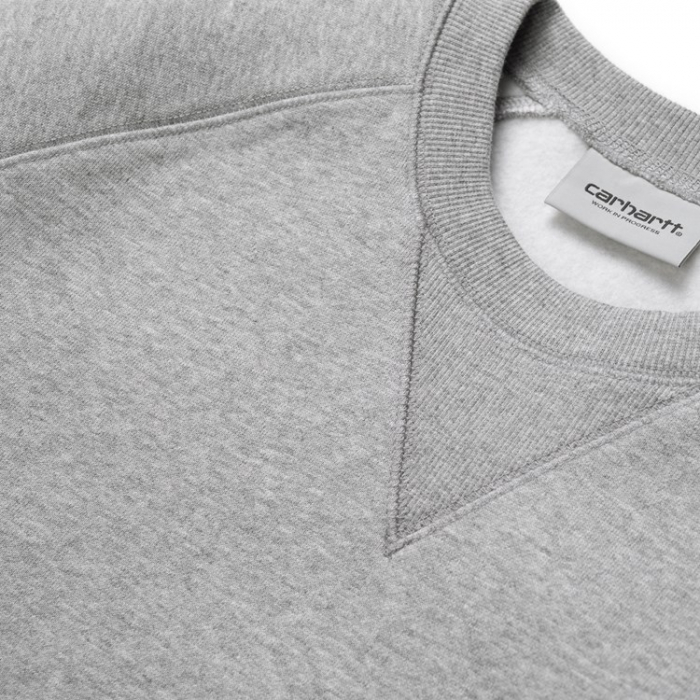 CARHARTT Chase Sweat Grey Heather / Gold 1